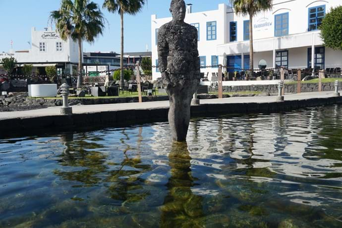 Sculpture near Harbour View restaurant Marina Rubicon