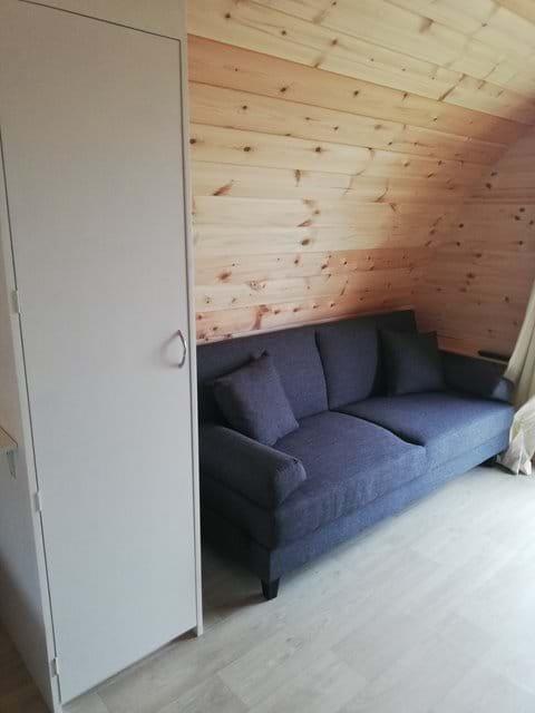 Clic clac sofa bed and wardrobe.