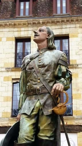 Statue of Cyrano de Bergerac in his home town