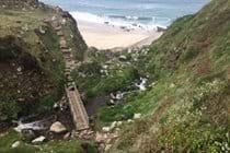 South West coastal path by Cape Cornwall
