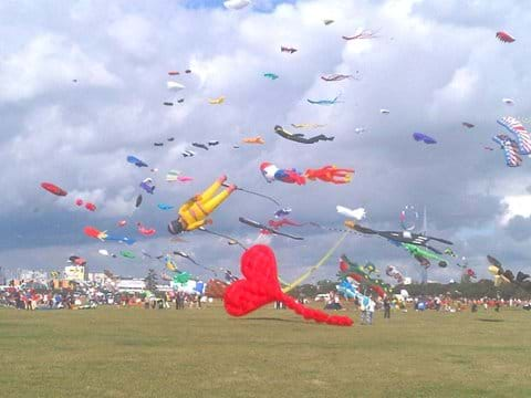 Kite festival on Southsea Common