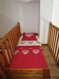 Alcove bed on the mezzanine level