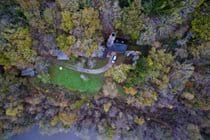 Autumnal drone shot