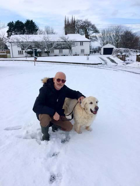 Fun in the snow with dad!