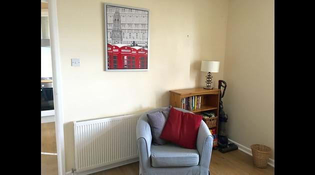 Reading corner in the lounge