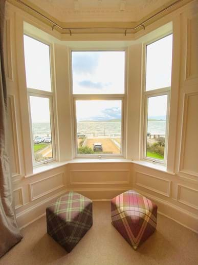 Panoramic sea and island views from first floor lounge