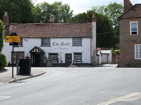 The Bull public house at Streatley