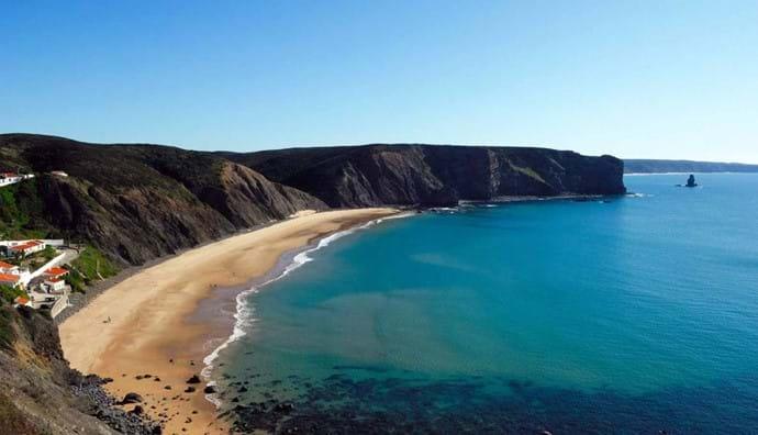 The local Arrifana Beach