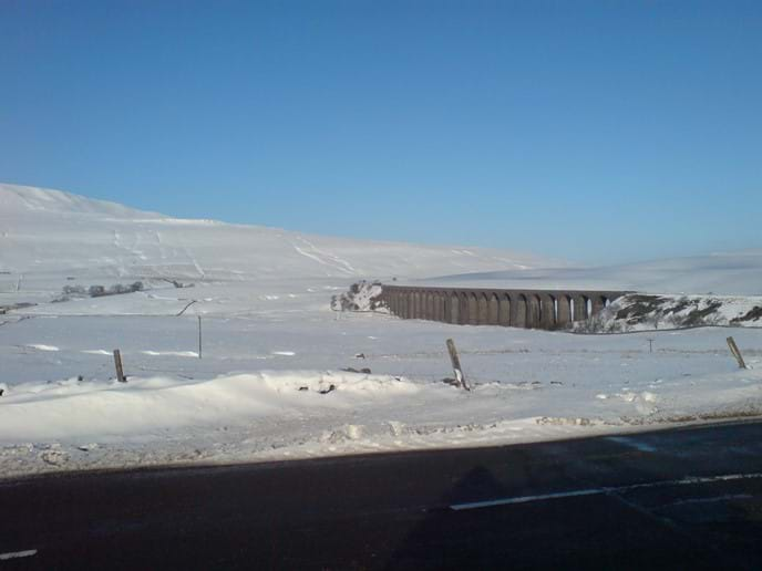 Ribblehead viaduct in winter