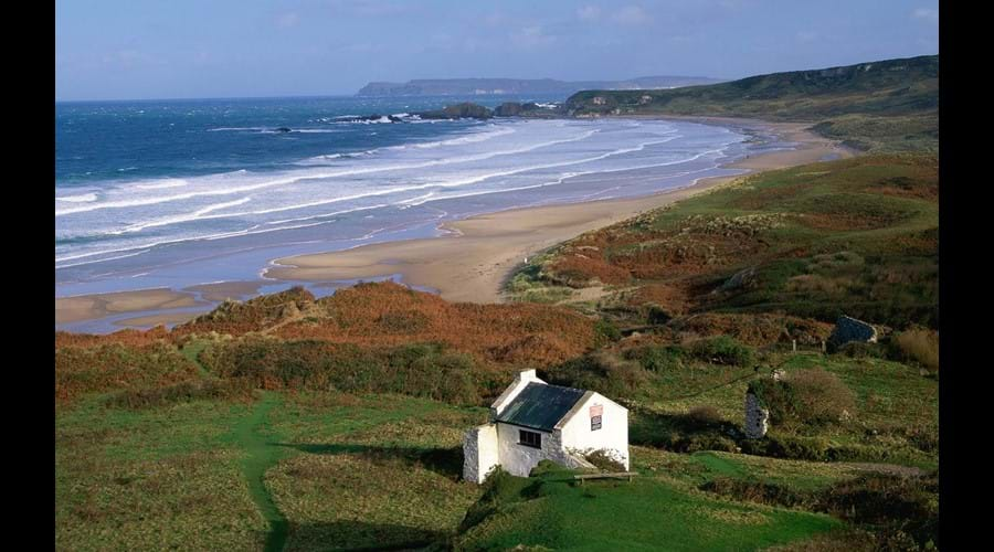 Whitepark Bay Beach - perfect for bucket and spade days and picnics in the sand dunes