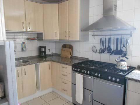 Gas range cooker in main kitchen