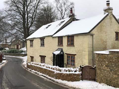 Snowy Woodbine Cottage