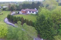 Aerial picture of house and garden