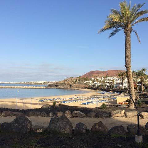 Playa Flamingo - the nearest large beach