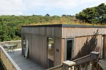 Eco lodge with sedum roof