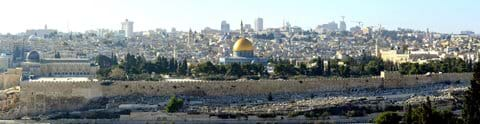 The Temple Mount from Mount of Olives