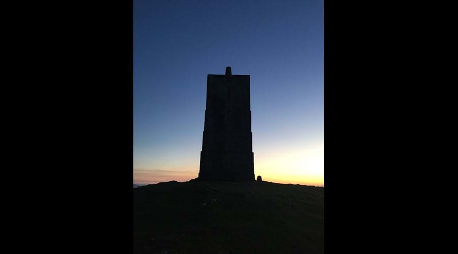 Corrin's Folly, Peel at sunset