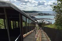 Aberystwyth cliff railway. Good view from the top, cafe, camera obsura and disc golf