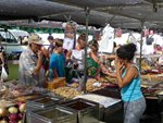 Nut and olive stall at Conil market