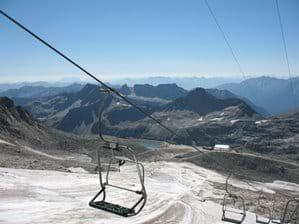 Chair lift Molltal Glacier