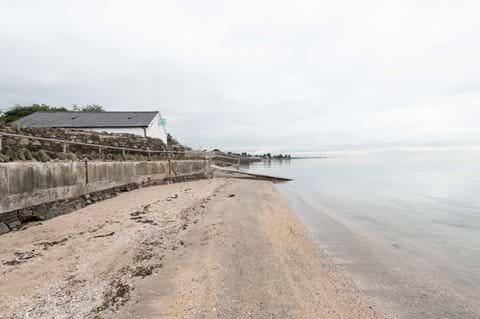 The Coastguard Boat House right beside the sea
