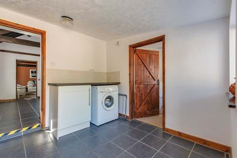 Entering the Cottage via the Utility room