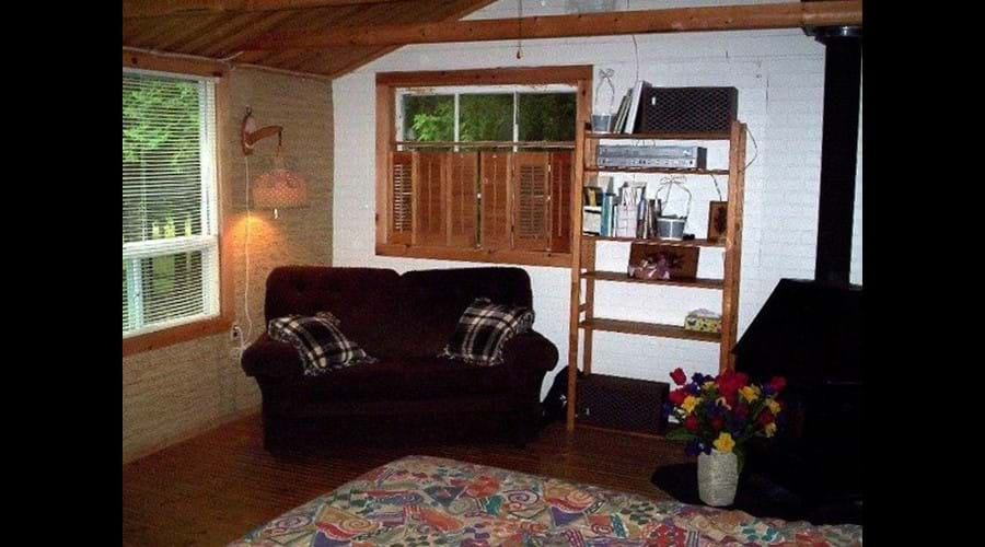 View of the inside the guest cabin. It