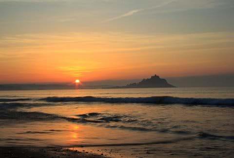 Sunrise at St Michaels Mount Cornwall