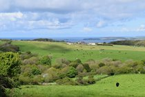 View of St Ives Bay from Trencrom Hill