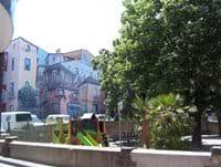 Colourful local square
