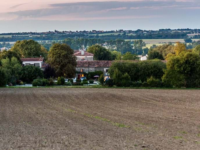 View of Les  Pommiers from our field