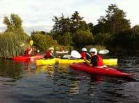 Kayaking on the lake only minutes away
