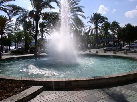 Fountains on the sea front