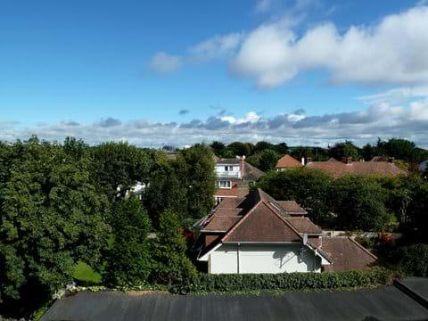 View from the balcony towards the sea and the Aviva stadium