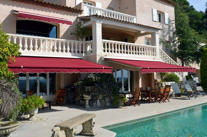 October 2015 - New Poolside Electric Awnings have now replaced the old ones.  Electrically operated, guests can adjust the amount of shade for poolside dining or close them fully for maximum sunshine exposure - all at the touch of a button.