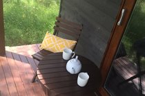 Summer relaxation on the back deck