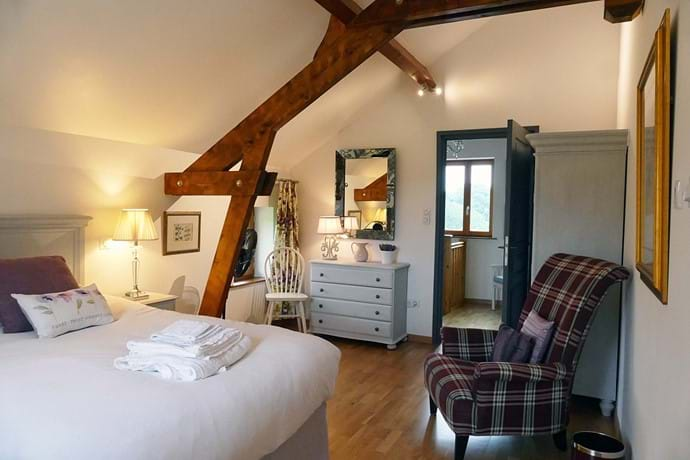Bedroom Three is located on the first floor of Le Noyer