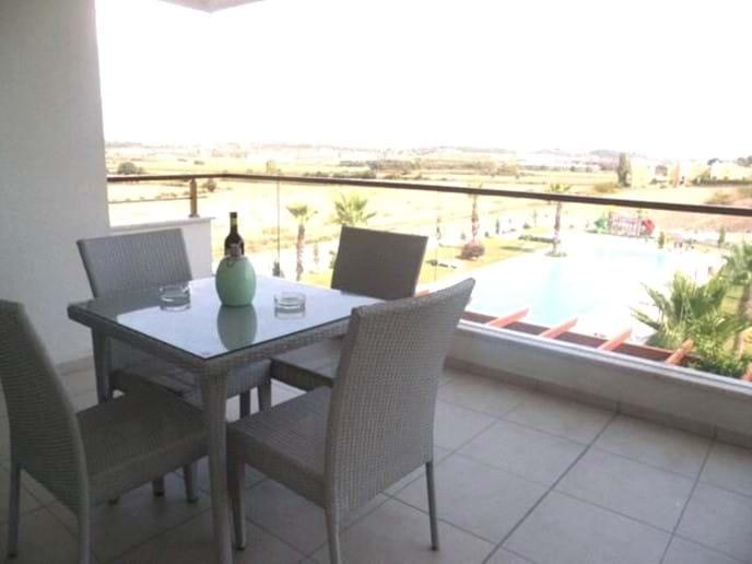 Large Balcony Over Looking Pool