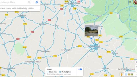 Villaine-la-Juhel Map showing La Pitardiere road