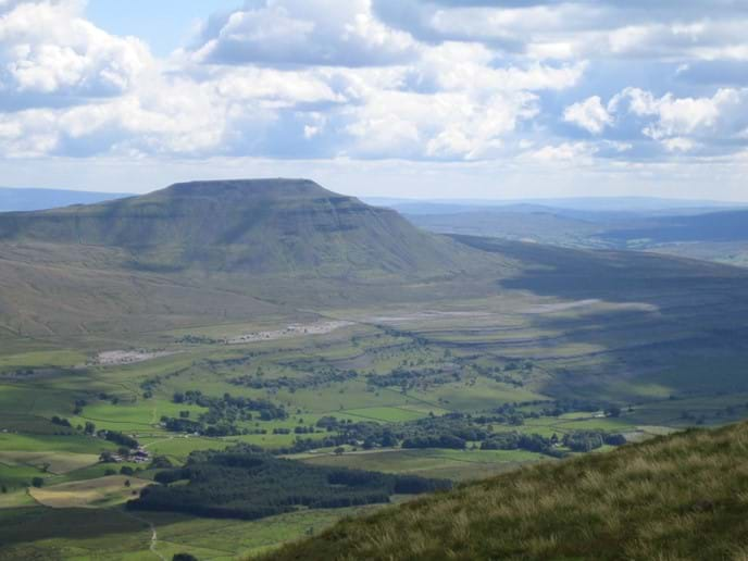 View of Ingleborough from Whernside