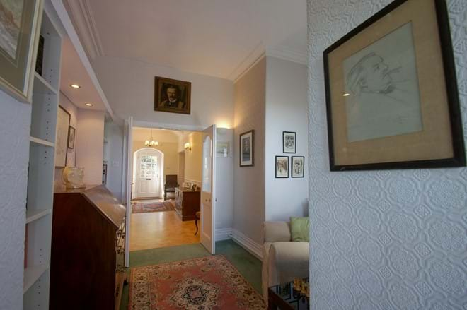 photo showing snug with Lloyd George memorabilia at Eisteddfa Country House group self catering