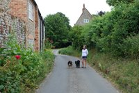 The quiet lane outside Wayside Cottage