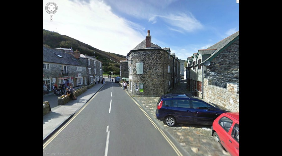 The heart of Boscastle, The Old Oil House on the right