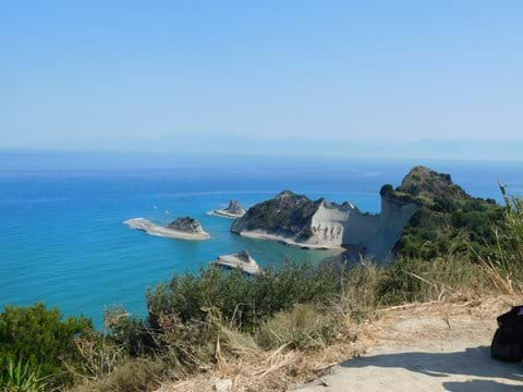 Try the boat trips from Cape Dratis - to the left is Seventh Heaven, and Sidari to the right