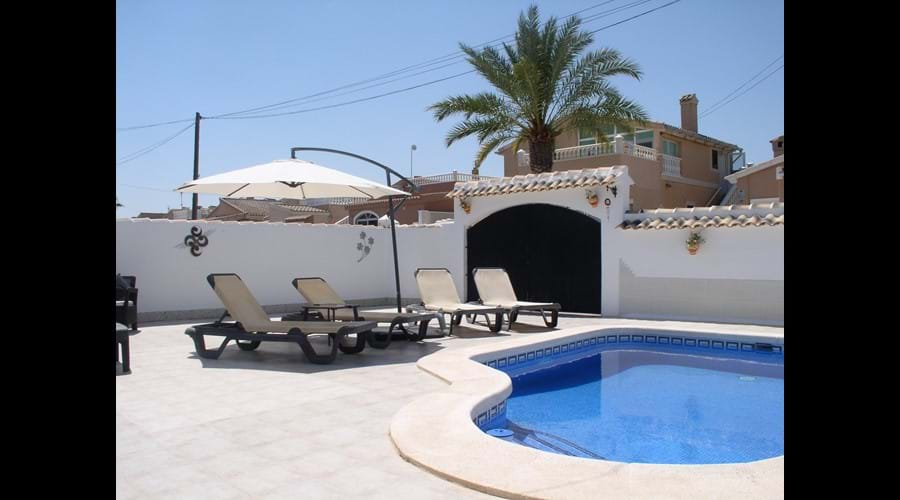 Large secure private garden and pool area