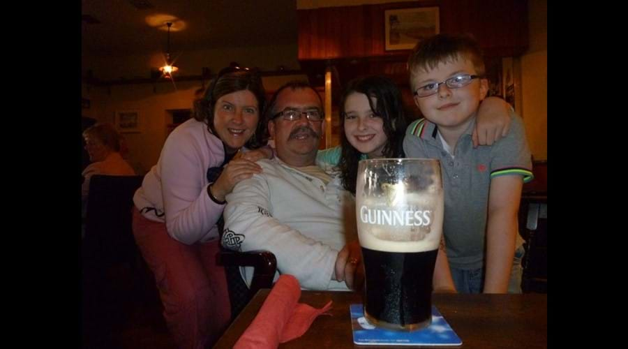 A large pint of Guinness at the local pub