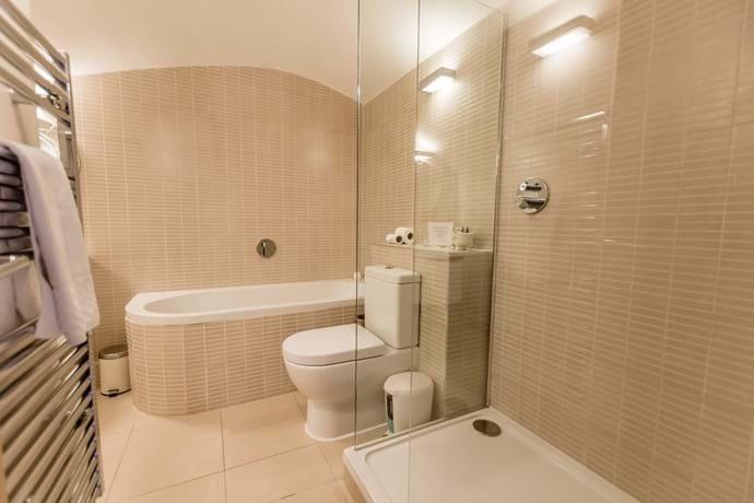 Bathroom on the lower ground floor