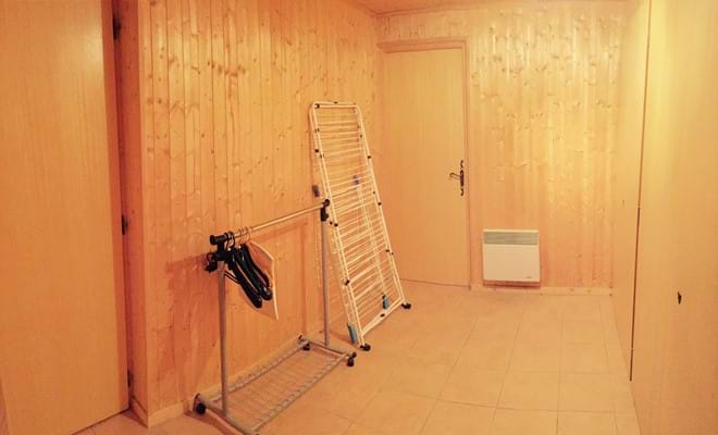 Drying room with washing machine and dryer