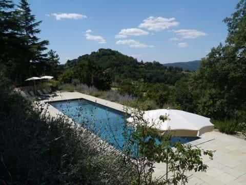 The pool looking towards Preggio