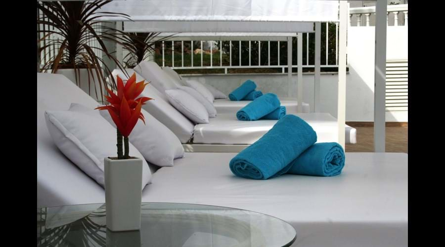 Balinese sunbeds
